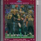 2007 TOPPS CHROME NEW ORLEANS SAINTS UNCIRCULATED RED REFRACTOR CARD #'D 100/139!
