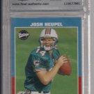 2001 UPPER DECK VINTAGE JOSH HEUPEL DOLPHINS ROOKIE CARD GRADED 9!