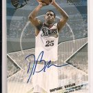 2002-03 TOPPS XPECTATIONS DAMONE BROWN 76ER'S AUTOGRAPHED CARD