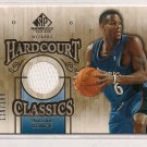 2007-08 SP GAME USED ANTONIO DANIELS WIZARDS HARDCOURT CLASSICS JERSEY CARD #'D 110/199!