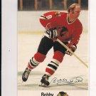 1988-89 ESSO BOBBY HULL BLACKHAWKS CARD