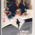 2003-04 UPPER DECK SP GAME USED JASON BLAKE ISLANDERS JERSEY CARD