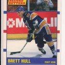 1990 SCORE BRETT HULL BLUES RECORD SETTERS CARD