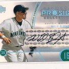 2004 UPPER DECK DIAMOND WILLIE BLOOMQUIST MARINERS PRO SIGS AUTOGRAPHED CARD