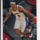 2007-08 TOPPS FINEST DOMINIC MCGUIRE WIZARDS ROOKIE CARD