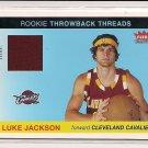 2004-05 FLEER TRADITION LUKE JACKSON CAVALIERS  THROWBACK THREADS  ROOKIE JERSEY CARD