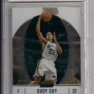 2006-07 TOPPS FINEST RUDY GAY GRIZZLIES ROOKIE CARD GRADED BCCG10!