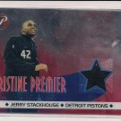 2001-02 TOPPS PRISTINE JERRY STACKHOUSE PISTONS ALL-STAR WARM UPS CARD