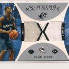 2003-04 UPPER DECK SPX KWAME BROWN WIZARDSWINNING MATERIAL DUAL JERSEY WAM-UP CARD