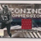2006 DONRUSS ELITE ALGE CRUMPLER FALCONS ZONING COMMISSION JERSEY CARD #'D 250/399!