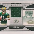 2008 DONRUSS THREADS BRIAN BROHM PACKERS ROOKIE COLLECTION JERSEY CARD