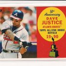 2008 TOPPS DAVID JUSTICE BRAVES 50TH ALL-STAR ROOKIE TEAM CARD