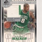 2003-04 SP GAME USED ANTOINE WALKER CELTICS AUTHENTIC FABRICS JERSEY CARD