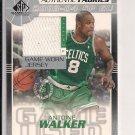 2003-04 SP GAME USED ANTOINE WALKER CELTICS AUTHENTIC FABRICS JERSEY CARD