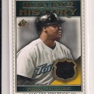 2009 SP LEGENDARY CUTS FRANK THOMAS A'S DESTINED FOR HISTORY JERSEY CARD