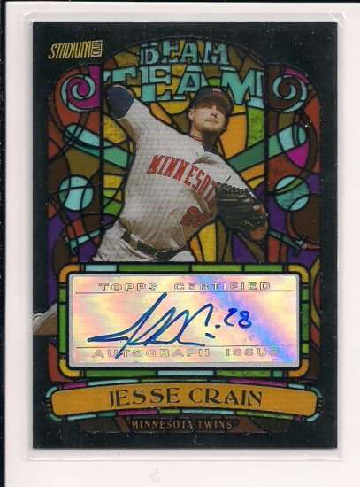 2008 TOPPS STADIUM CLUB JESSE CRAIN TWINS BEAM TEAM AUTOGRAPHED CARD