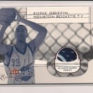 2001-02 FLEER EXCLUSIVES EDDIE GRIFFIN ROCKETS ROOKIE PATCH CARD