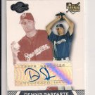 2007 TOPPS CO-SIGNERS DENNIS SARFARTE BREWERS ROOKIE AUTO CARD #'D 044/275!