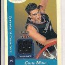 2000-01 FLEER HOOPS CHRIS MIHM CAVS ROOKIE JERSEY CARD