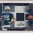 2006 PLAYOFF ABSOLUTE MEMORABILIA LENDALE WHITE TITANS JERSEY CARD