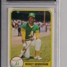 1981 FLEER RICKEY HENDERSON 2ND YEAR CARD GRADED FGS 10!