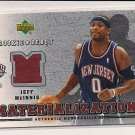 2006-07 UPPER DECK ROOKIE DEBUT JEFF MCINNIS NETS MATERIALIZATION JERSEY CARD