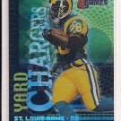 2000 FLEER GAMERS MARSHALL FAULK RAMS YARD CHARGERS INSERT
