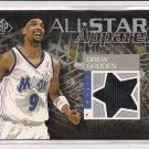 2003 UPER DECK SP GAME USED DREW GOODEN MAGIC ALL STAR APPAREL JERSEY CARD