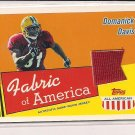 2003 TOPPS ALL AMERICAN DOMANICK DAVIS FABRIC OF AMERICA ROOKIE JERSEY CARD