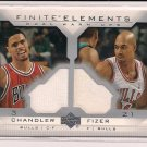 2003-04 UPPER DECK TYSON CHANDLER/ MARCUS FIZER BULLS FINITE ELEMENTS DUAL JERSEY