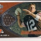 2004 UPPER DECK LUKE MCCOWN BROWNS SWEET SWATCHES JERSEY CARD