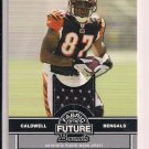 ANDRE CALDWELL BENGALS 2008 BOWMAN FABRIC OF THE FUTURE JERSEY CARD