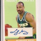 SIDNEY MONCRIEF BUCKS TOPPS 2008-09 AUTOGRAPHED CARD