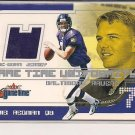 CHRIS REDMAN RAVENS 2001 FLEER GAME TIME UNIFORMITY JERSEY CARD