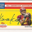 KAREEM KELLY USC 2003 TOPPS ALL AMERICAN AUTOGRAPH CARD