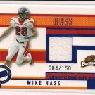 MIKE HASS BEAVERS 2006 PRESSPASS GAME-USED JERSEY #'D 084/150!