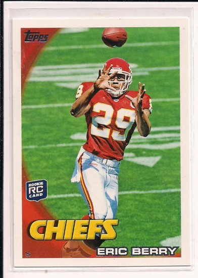 ERIC BERRY CHIEFS 2010 TOPPS ROOKIE CARD