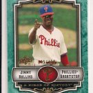 JIMMY ROLLINS PHILLIES 2009 UD PIECE OF HISTORY CARD #'D 145/150!