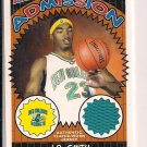 J.R. SMITH HORNETS/NUGGETS 2004-05 TOPPS BAZOOKA ADMISSSION ROOKIE JERSEY