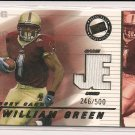 WILLIAM GREEN BOSTON COLLEGE 2002 PRESS PASS ROOKIE JERSEY CARD #246/500!
