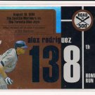 ALEX RODRIGUEZ 2007 TOPPS ROAD TO 500 HOMERUN #138 CARD