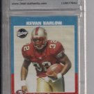KEVAN BARLOW 49ERS 2001 UPPER DECK VINTAGE GRADED ROOKIE CARD