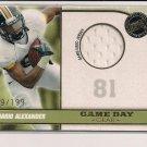 DANARIO ALEXANDER TIGERS/RAMS 2010 PRESS PASS ROOKIE JERSEY CARD #'D 149/199!