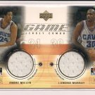 ANDRE MILLER/ LAMOND MURRAY CAVS 2001 UPPER DECK GAME JERSEY DUAL COMBO