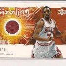 BEN GORDON BULLS 2005-06 UPPER DECK ROOKIE DEBUT SIZZLING SWATCHES JERSEY CARD