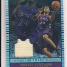 MORRIS PETERSON RAPTORS 2002-03 TOPPS JERSEY EDITION NBA ROAD JERSEY CARD