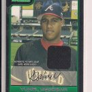 YUNEL ESCOBAR BRAVES 2006 BOWMAN FUTURES ROOKIE JERSEY CARD