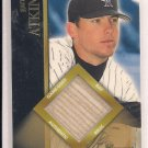 GARRETT ATKINS ROCKIES 2002 BOWMAN GAME-USED BAT CARD