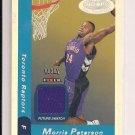 MORRIS PETERSON RAPTORS 2000-01 FLEER ROOKIE JERSEY CARD
