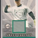 MIKE LOWELL MARLINS 2004 UPPER DECK SWEET SPOT THREADS SWATCH